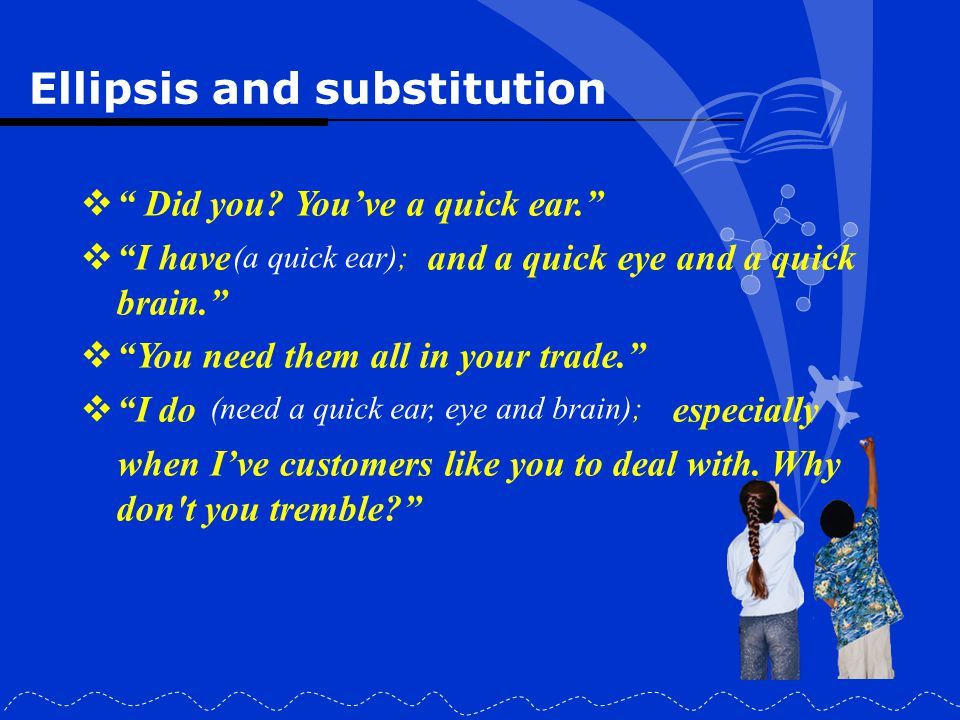 Ellipsis and substitution