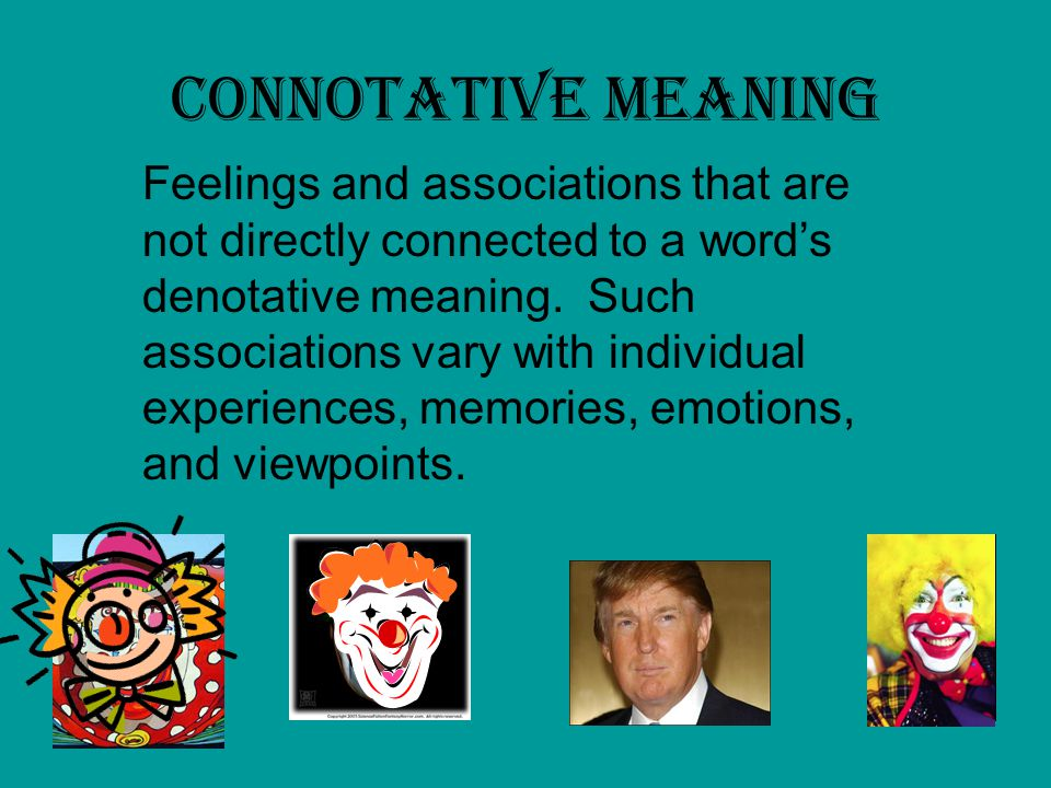 Connotative Meaning