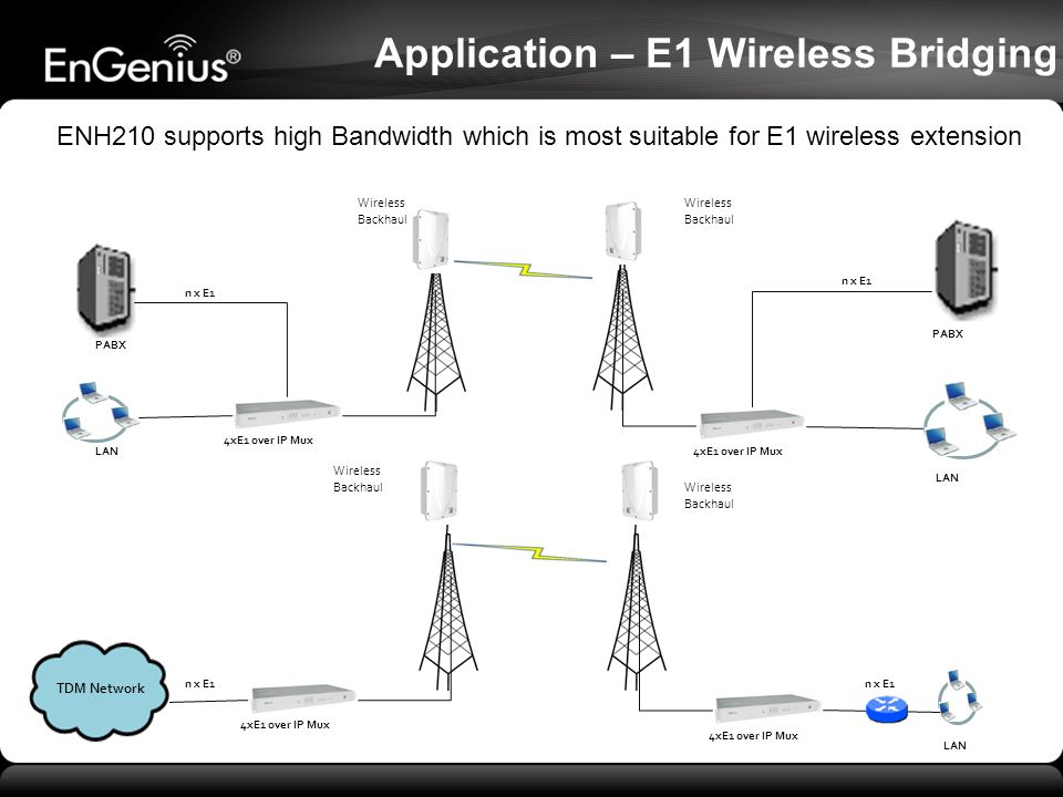 Application – E1 Wireless Bridging