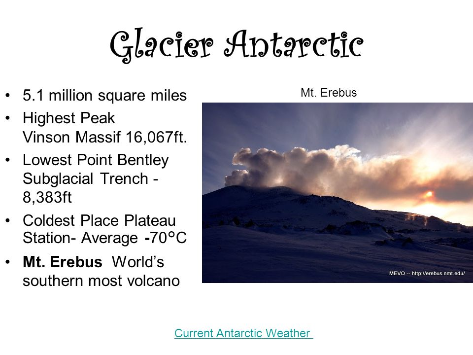 Glacier Antarctic 5.1 million square miles