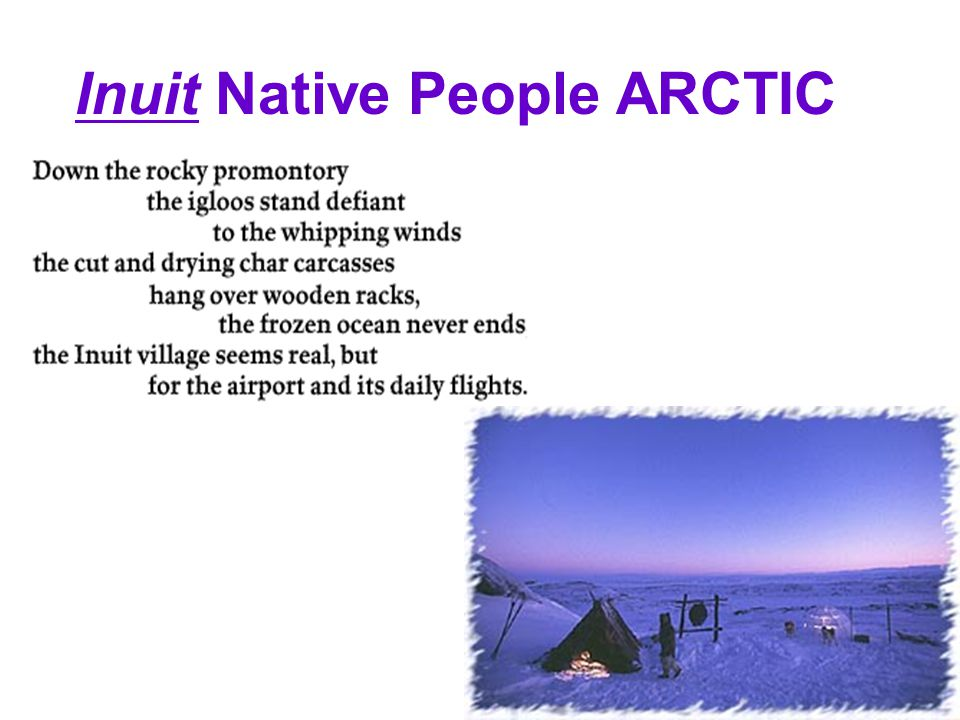 Inuit Native People ARCTIC