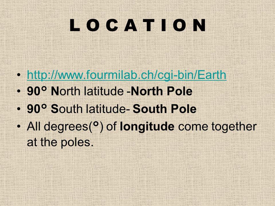 L O C A T I O N http://www.fourmilab.ch/cgi-bin/Earth