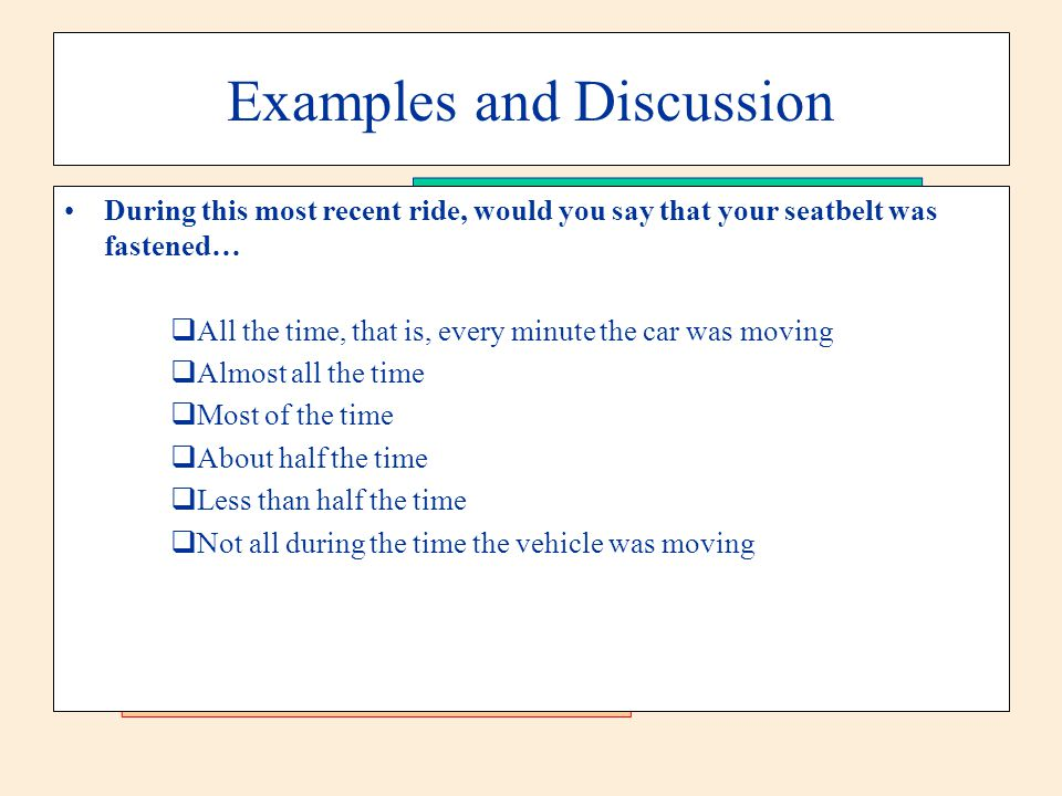 Examples and Discussion