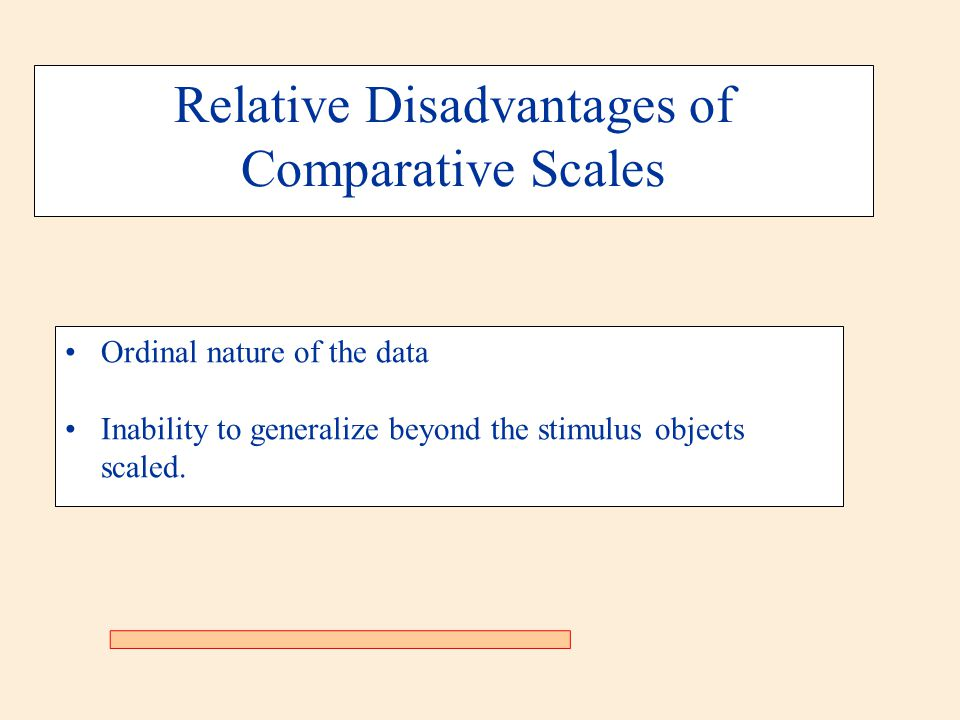 Relative Disadvantages of Comparative Scales