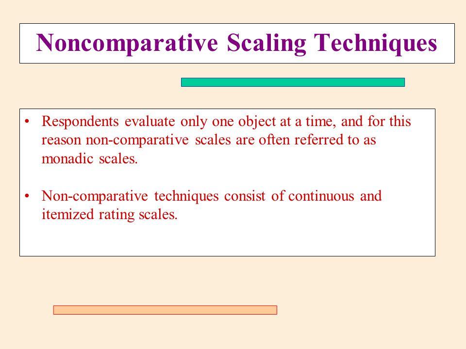 Noncomparative Scaling Techniques