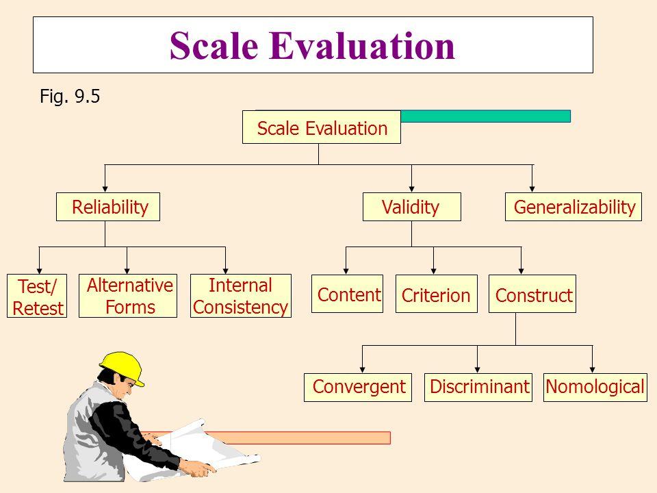 Scale Evaluation Fig. 9.5 Discriminant Nomological Convergent