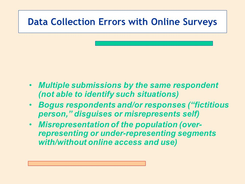 Data Collection Errors with Online Surveys