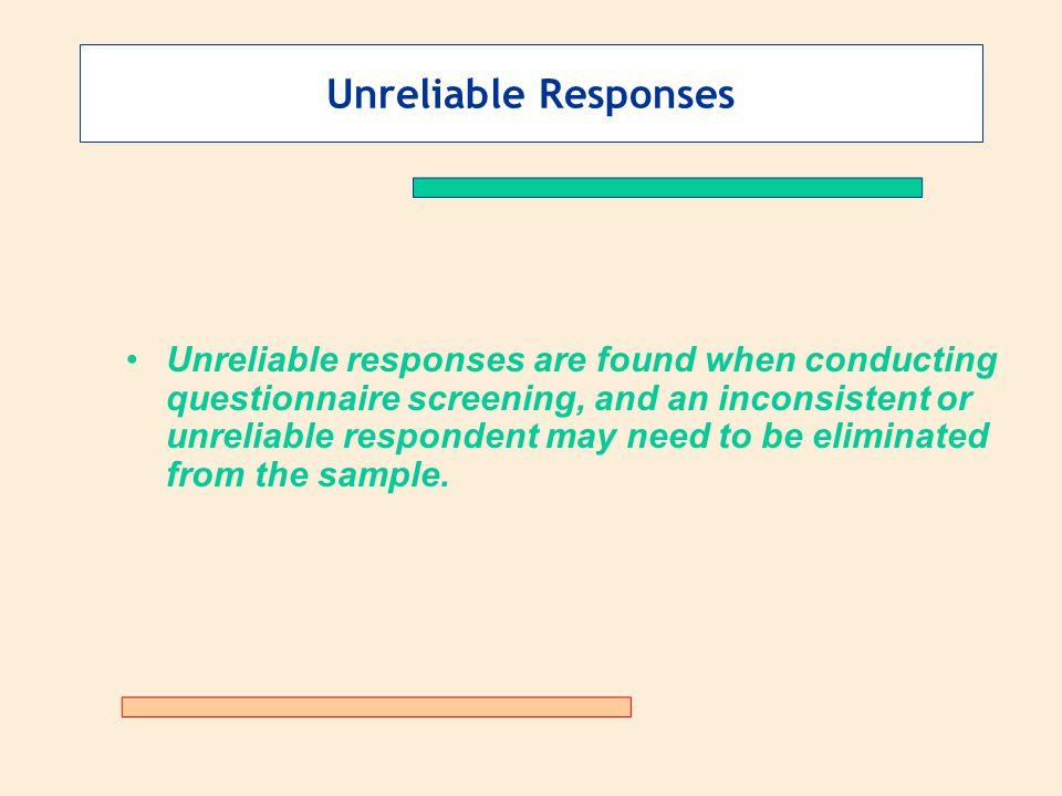 Unreliable Responses