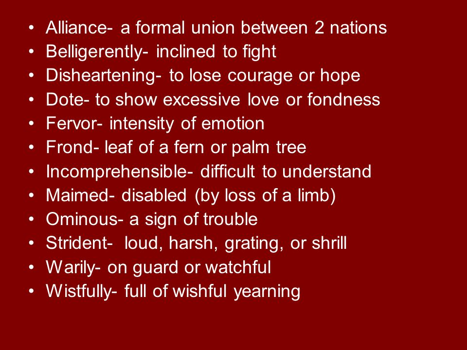 Alliance- a formal union between 2 nations