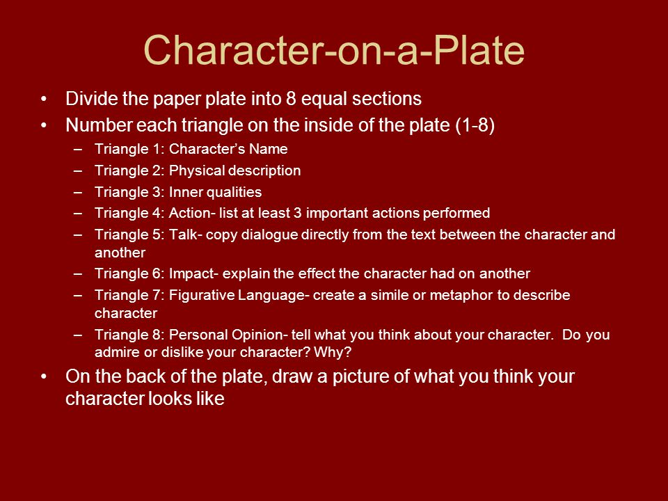 Character-on-a-Plate