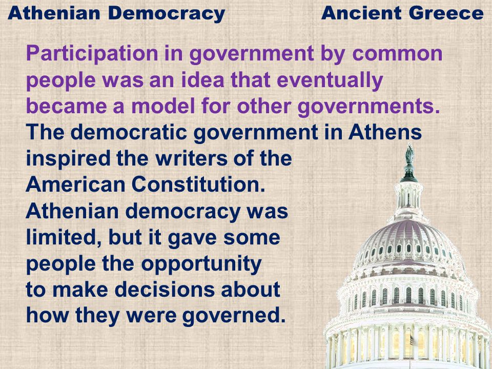Athenian Democracy Ancient Greece - ppt download