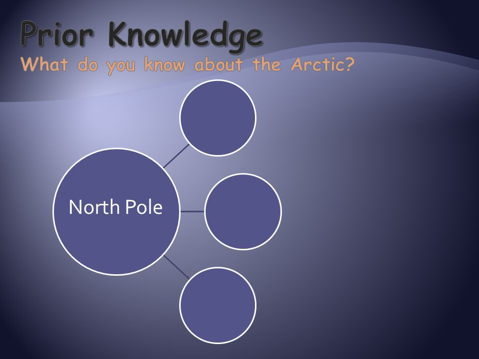 Prior Knowledge What do you know about the Arctic