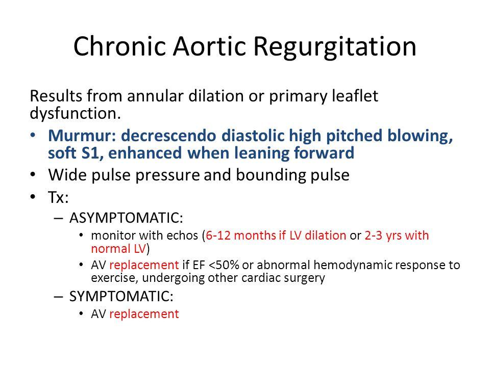 Chronic Aortic Regurgitation