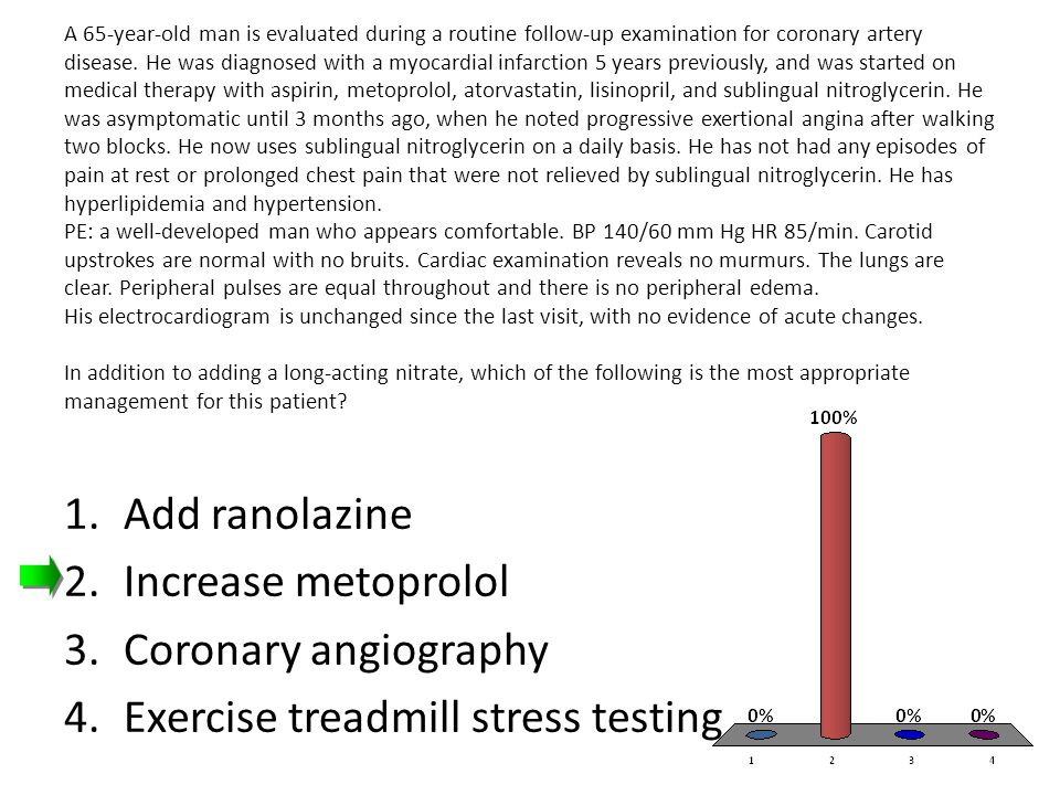 Exercise treadmill stress testing