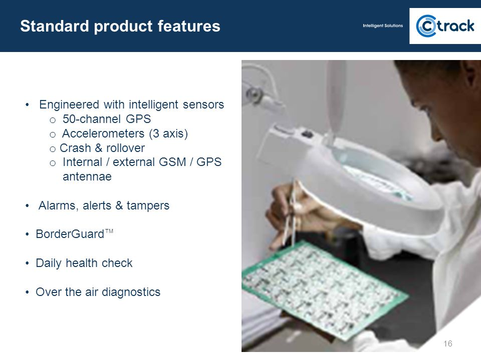 Standard product features