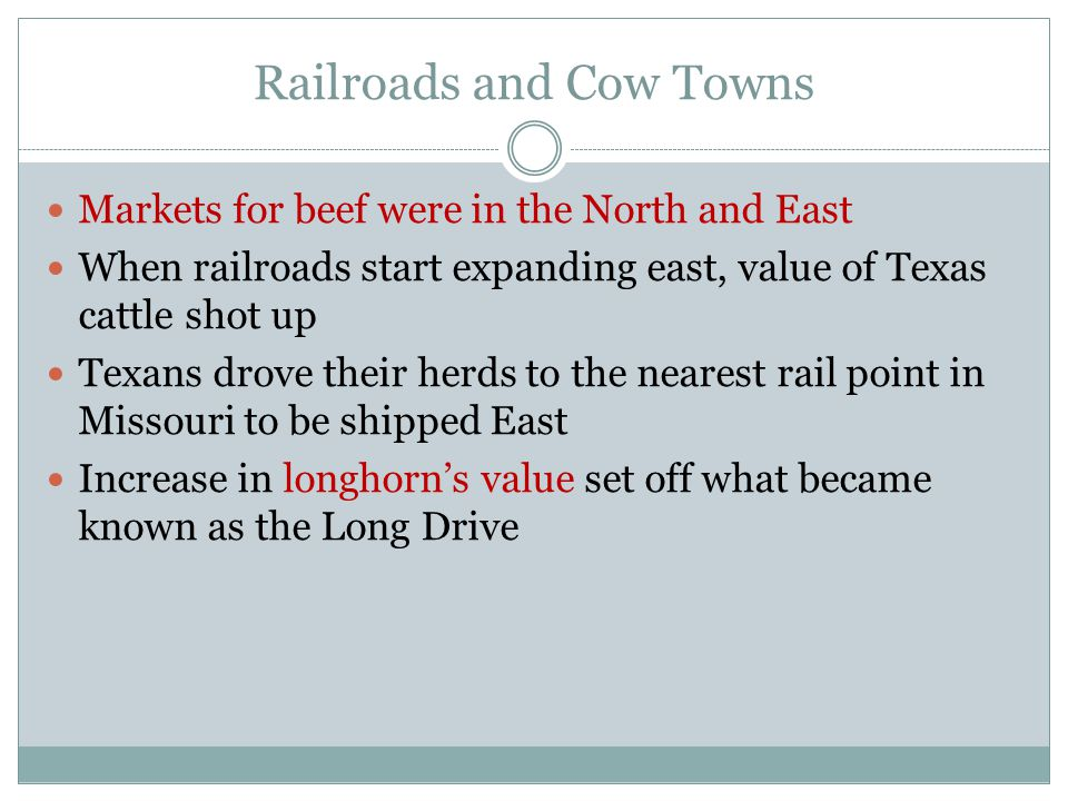 Railroads and Cow Towns