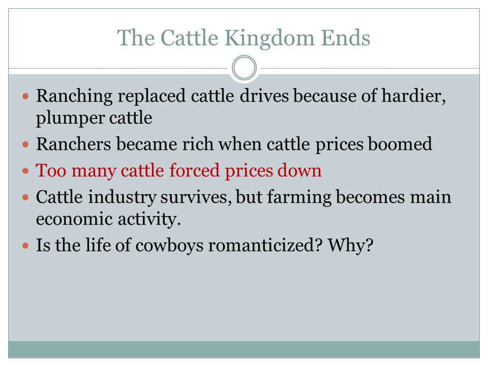 The Cattle Kingdom Ends