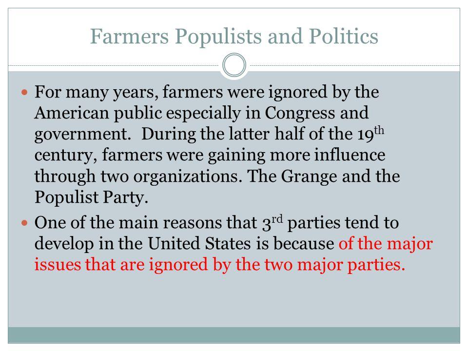 Farmers Populists and Politics