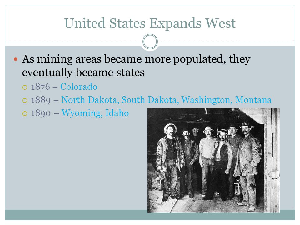 United States Expands West