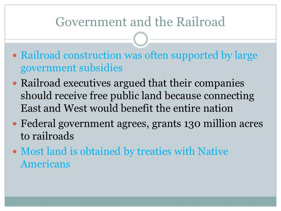 Government and the Railroad