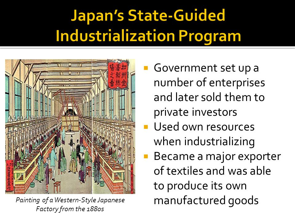 Japan's State-Guided Industrialization Program