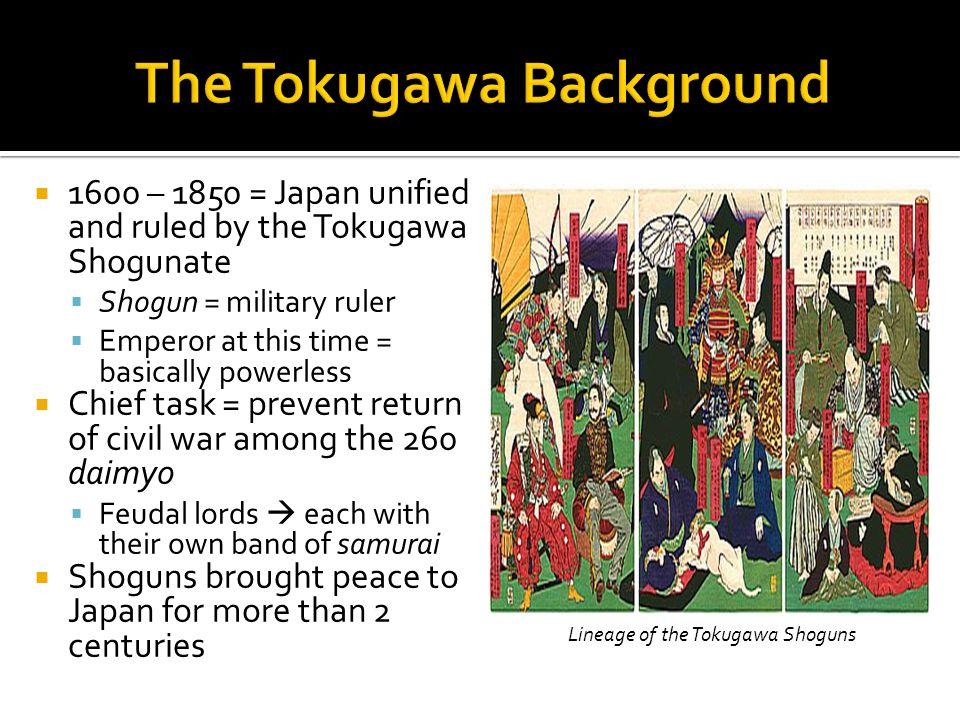 The Tokugawa Background