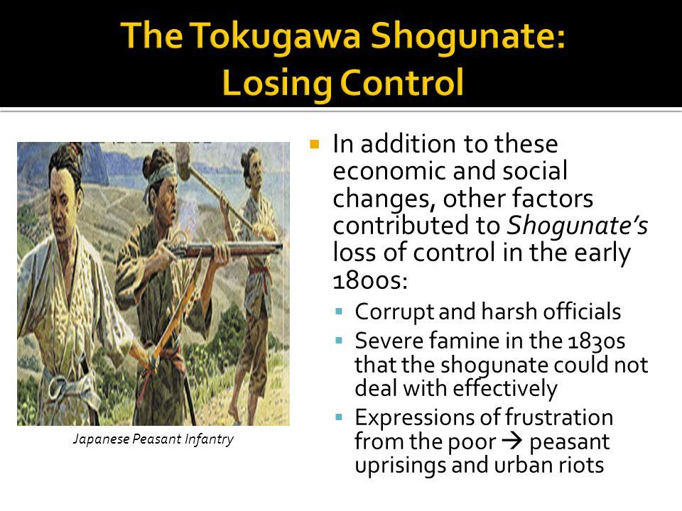 The Tokugawa Shogunate: Losing Control