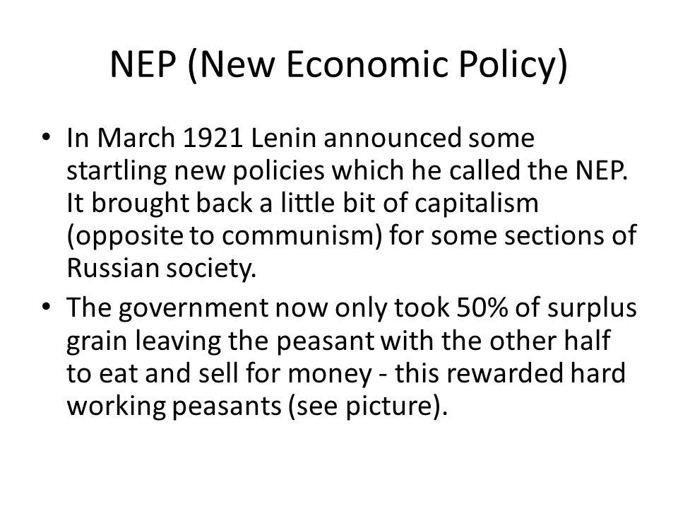 NEP (New Economic Policy)