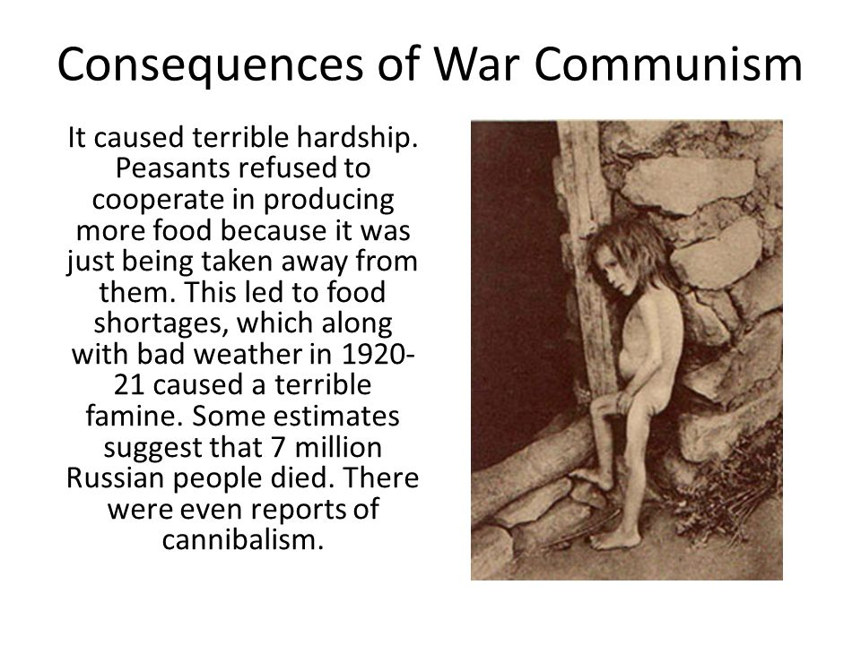 Consequences of War Communism
