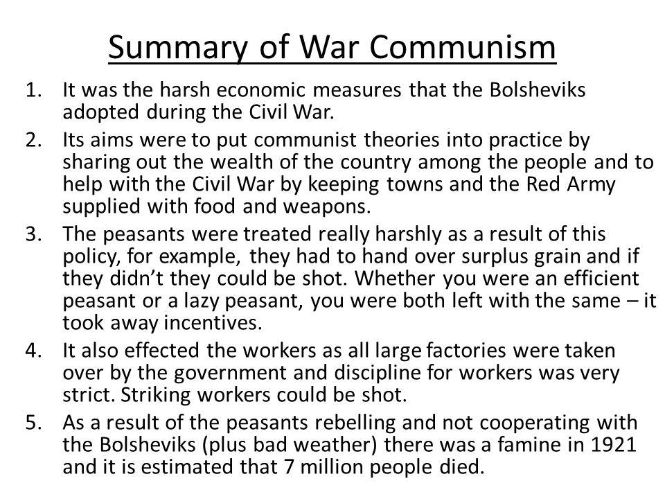 Summary of War Communism