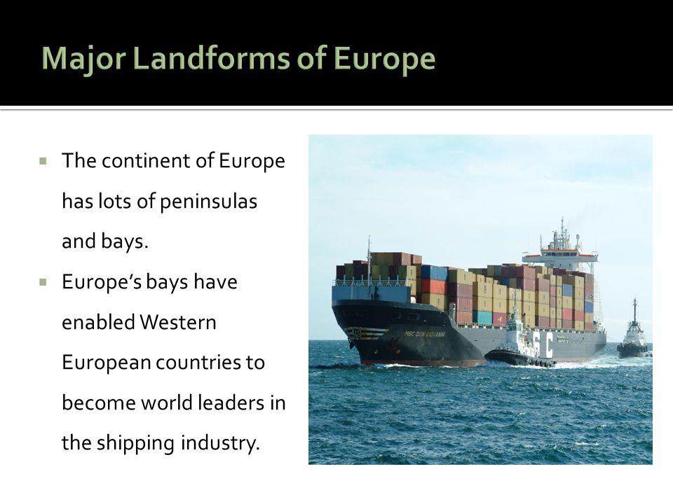 Major Landforms of Europe