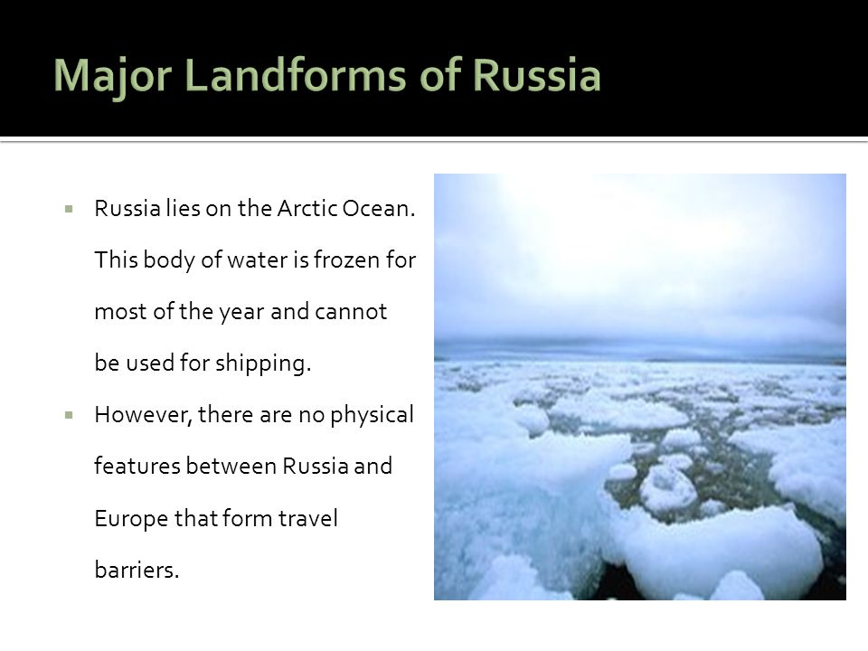Major Landforms of Russia