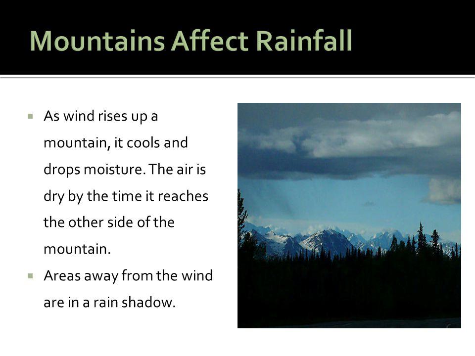 Mountains Affect Rainfall