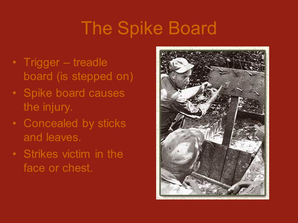The Spike Board Trigger – treadle board (is stepped on)