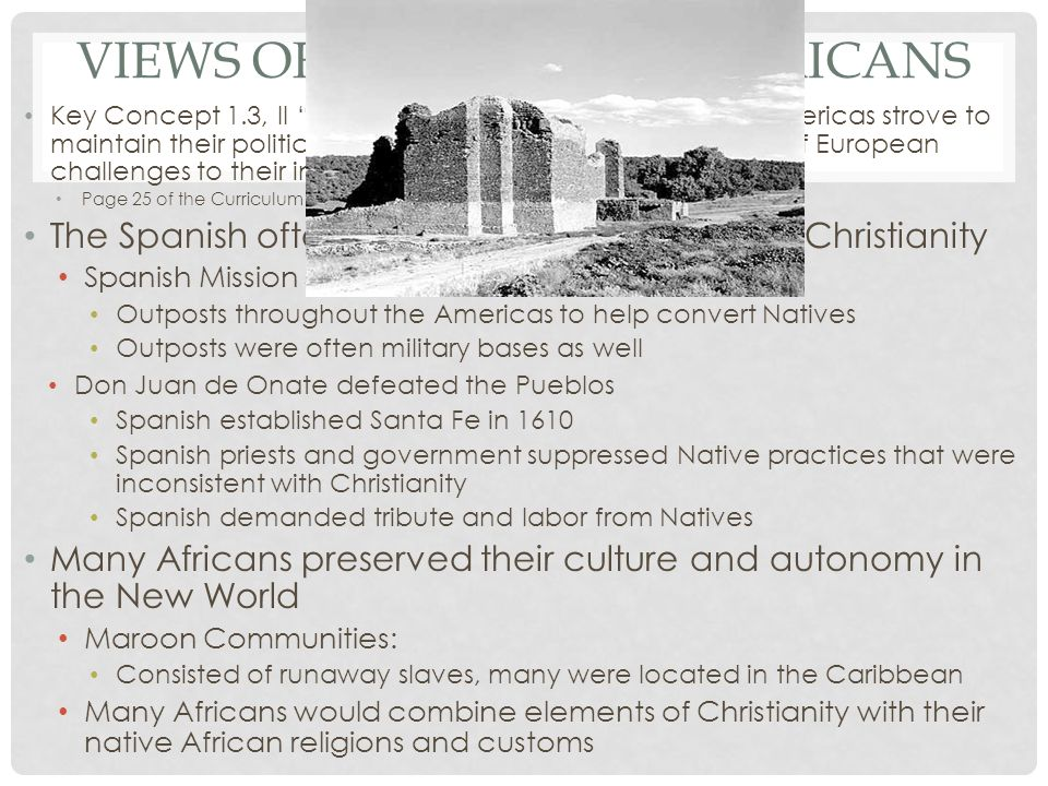 Views of Natives and Africans