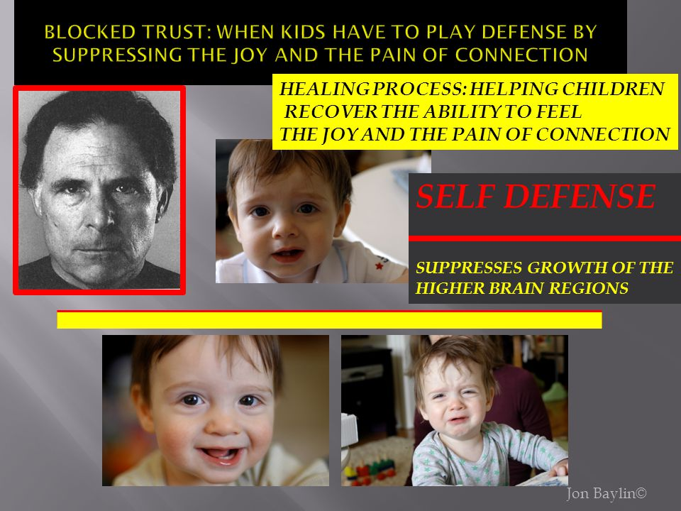 BLOCKED TRUST: WHEN KIDS HAVE TO PLAY DEFENSE BY SUPPRESSING THE JOY AND THE PAIN OF CONNECTION