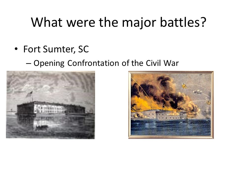 What were the major battles