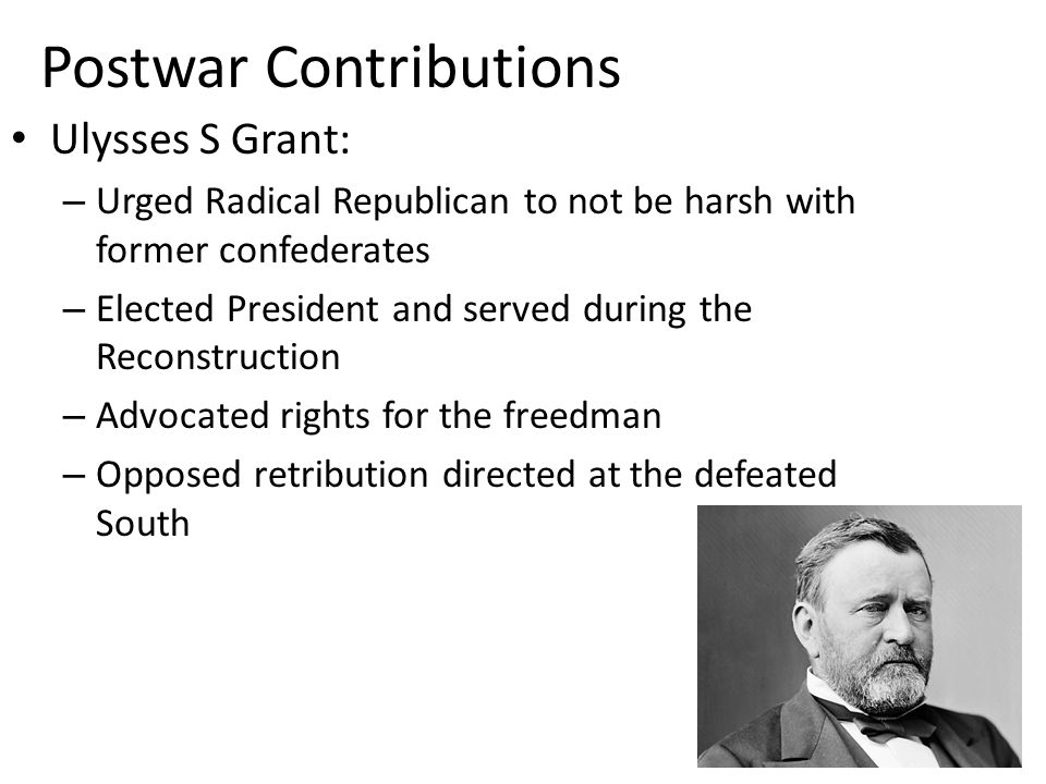 Postwar Contributions