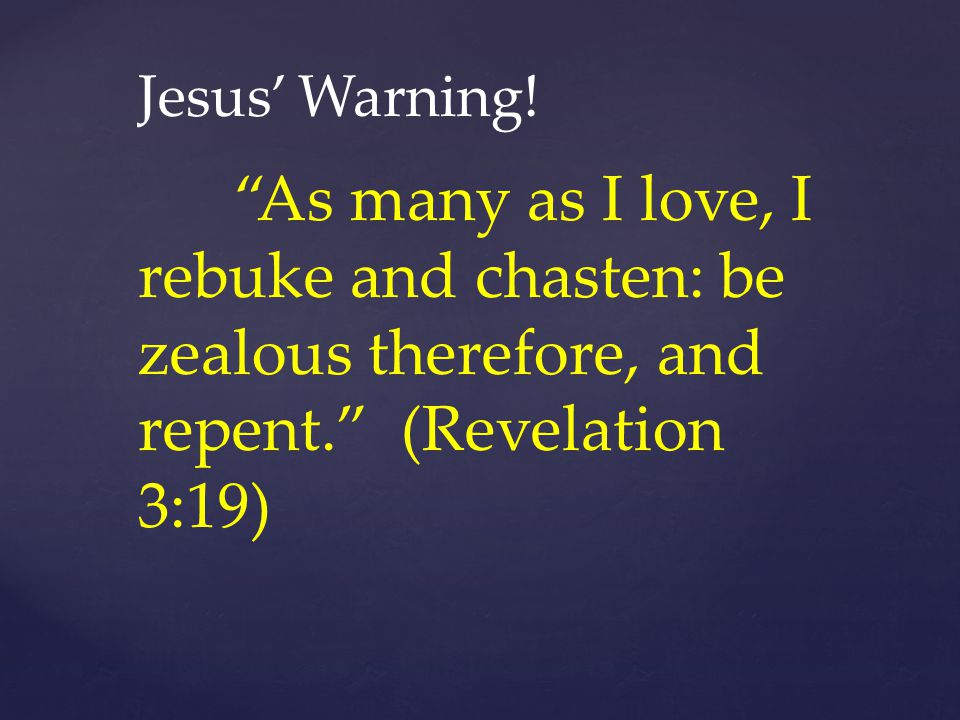 Jesus' Warning.