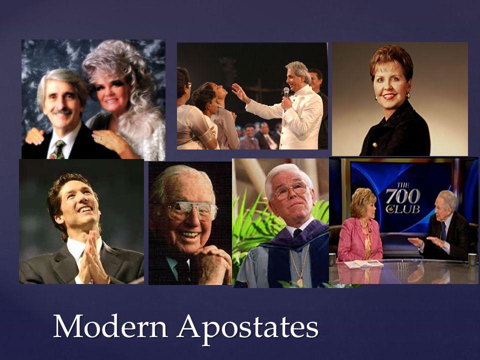 Modern Apostates