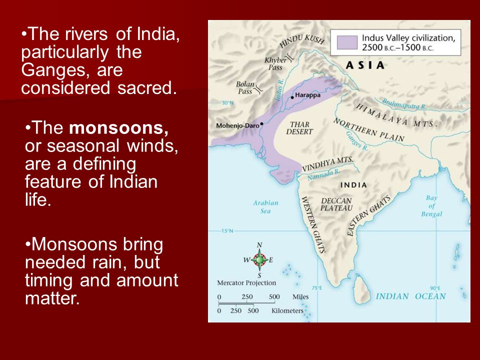 The rivers of India, particularly the Ganges, are considered sacred.
