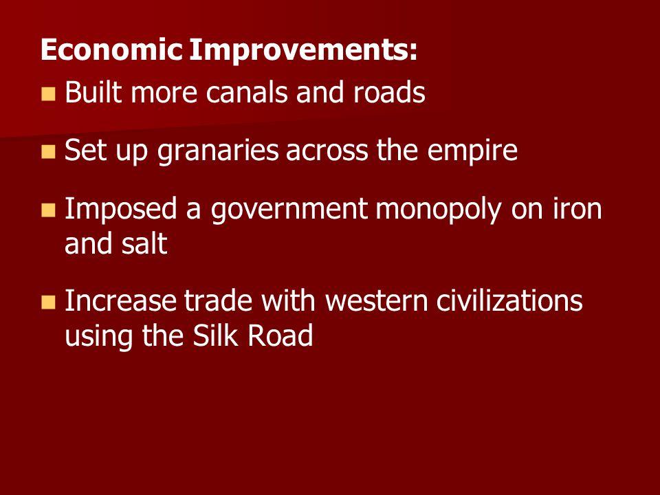 Economic Improvements: