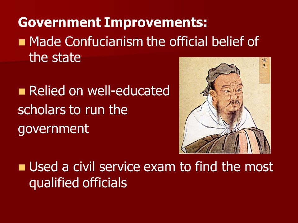 Government Improvements: