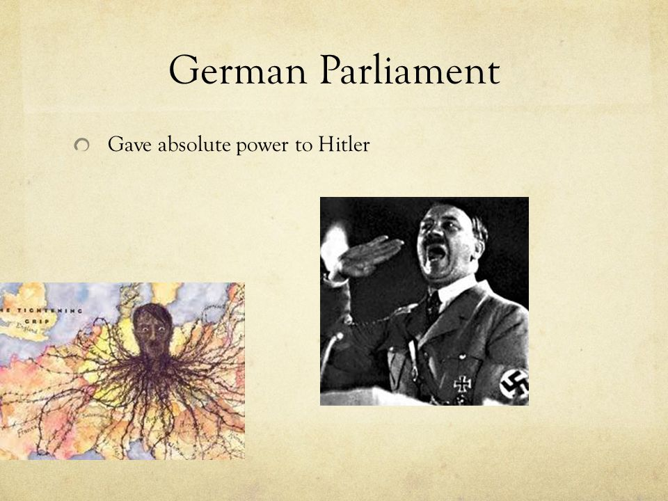 German Parliament Gave absolute power to Hitler