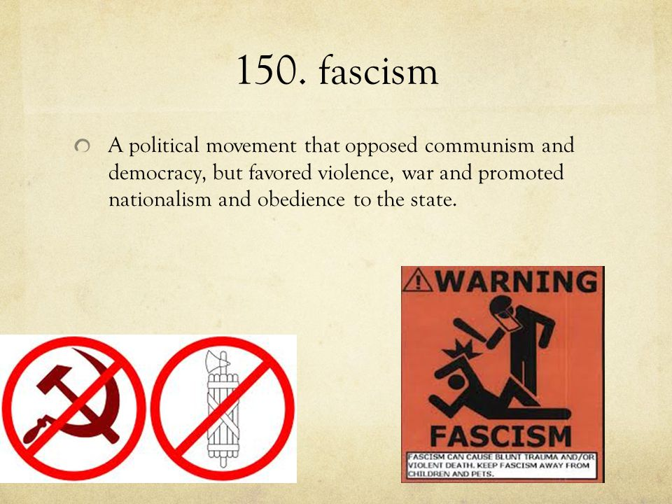 150. fascism