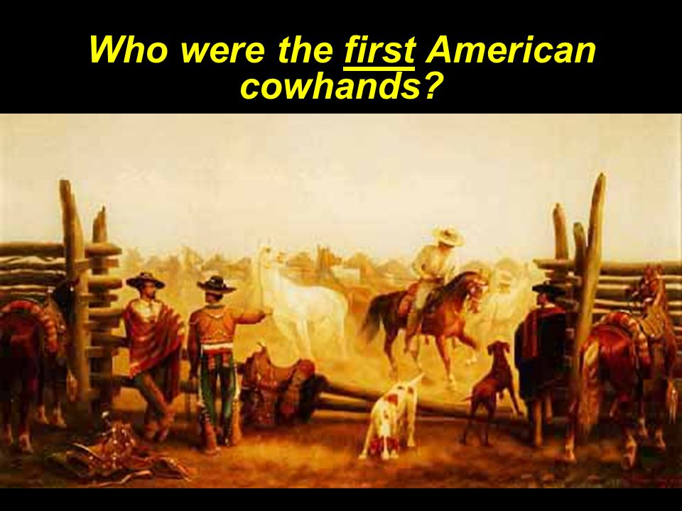 Who were the first American cowhands