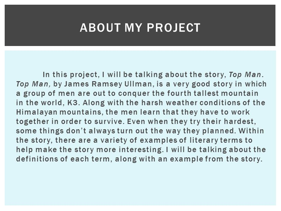 About my project