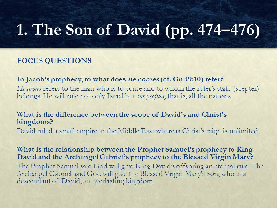 1. The Son of David (pp. 474–476)