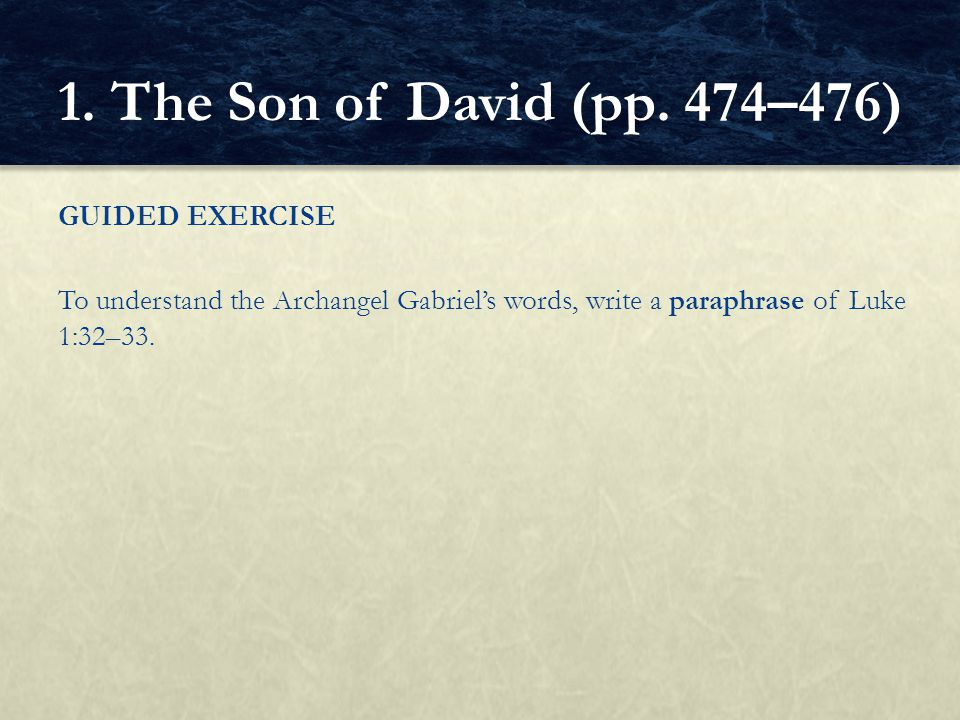 1. The Son of David (pp.