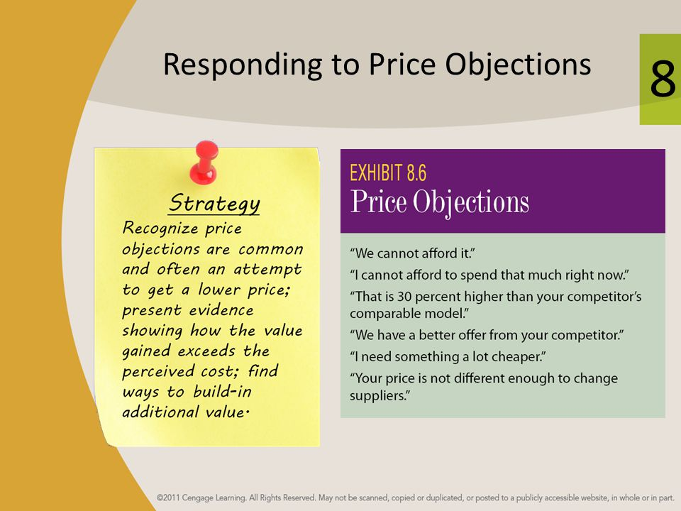 Responding to Price Objections